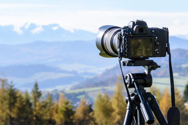 Camera-Using-Tripod-Outside